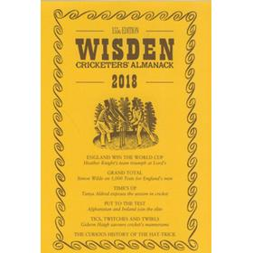 WISDEN TRADITIONAL-STYLE DUST JACKET 2018