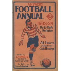 ANSWERS FOOTBALL ANNUAL 1933-34