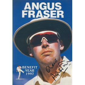 ANGUS FRASER (MIDDLESEX) 1997 SIGNED BENEFIT BROCHURE