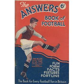 ANSWERS BOOK OF FOOTBALL (1934)