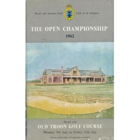 OPEN CHAMPIONSHIP 1962 (TROON) GOLF PROGRAMME