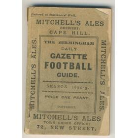 THE BIRMINGHAM DAILY GAZETTE FOOTBALL GUIDE 1894-5