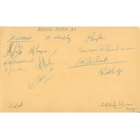 BRITISH ARMY AND FRENCH ARMY 1948 FOOTBALL AUTOGRAPHS (AND LUTON TOWN)