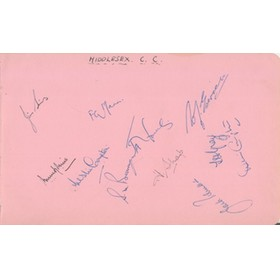 MIDDLESEX 1948 CRICKET AUTOGRAPHS