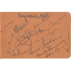 AUSTRALIA 1948 CRICKET AUTOGRAPHS