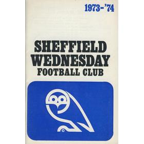 SHEFFIELD WEDNESDAY FOOTBALL CLUB OFFICIAL HANDBOOK 1973-74