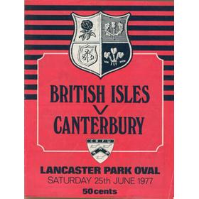 CANTERBURY V BRITISH ISLES 1977 RUGBY PROGRAMME (SIGNED BY 12 BRITISH LIONS)