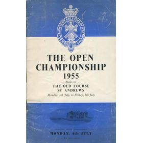 OPEN CHAMPIONSHIP 1955 (ST. ANDREWS) GOLF PROGRAMME