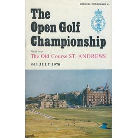 OPEN CHAMPIONSHIP 1970 (ST. ANDREWS) GOLF PROGRAMME