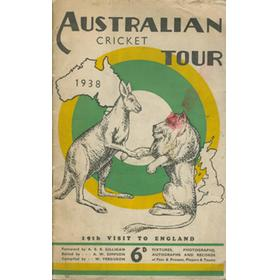 AUSTRALIAN CRICKET TOUR 1938