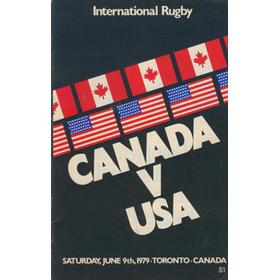 CANADA V USA 1979 RUGBY PROGRAMME