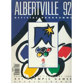 ALBERTVILLE 1992 WINTER OLYMPICS OFFICIAL PROGRAMME