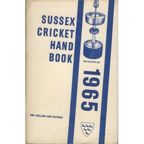 OFFICIAL SUSSEX CRICKET HANDBOOK 1965