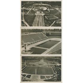 BERLIN OLYMPICS STADIUM AND SWIMMING POOL 1936 POSTCARDS