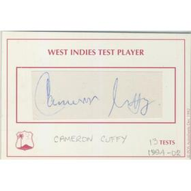 CAMERON CUFFY (WEST INDIES) CRICKET AUTOGRAPH