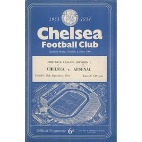 CHELSEA V ARSENAL 1953-54 FOOTBALL PROGRAMME