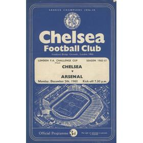 CHELSEA V ARSENAL 1960-61 FOOTBALL PROGRAMME