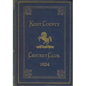 KENT COUNTY CRICKET CLUB 1924 [BLUE BOOK]
