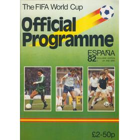 WORLD CUP SPAIN 1982 OFFICIAL TOURNAMENT BROCHURE