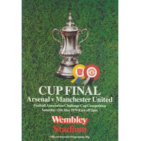ARSENAL V MANCHESTER UNITED 1979 (F.A. CUP FINAL) FOOTBALL PROGRAMME