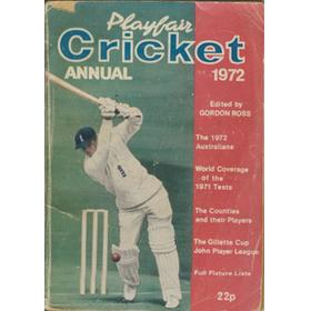 PLAYFAIR CRICKET ANNUAL 1972