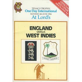 ENGLAND V WEST INDIES 1984 (LORD