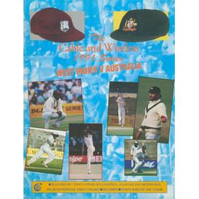 CABLE AND WIRELESS 1991 SERIES - WEST INDIES V AUSTRALIA - SOUVENIR TOUR BROCHURE