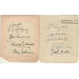 ARSENAL 1930S AUTOGRAPHS (INCLUDING BASTIN, DRAKE, JAMES ETC)