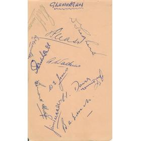 GLAMORGAN EARLY 1950S CRICKET AUTOGRAPHS