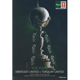 EBBSFLEET UNITED V TORQUAY UNITED 2008 FA TROPHY FINAL FOOTBALL PROGRAMME