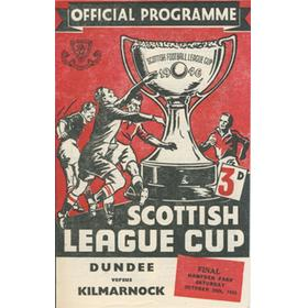 DUNDEE V KILMARNOCK 1952 SCOTTISH LEAGUE CUP FINAL FOOTBALL PROGRAMME
