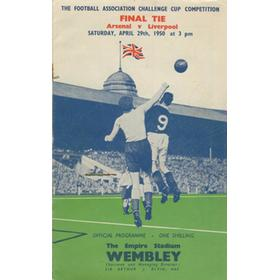 ARSENAL V LIVERPOOL 1950 (F.A. CUP FINAL) FOOTBALL PROGRAMME