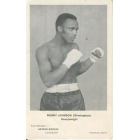 BUNNY JOHNSON (BIRMINGHAM) BOXING PHOTOGRAPH
