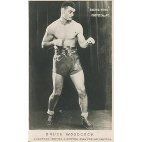 BRUCE WOODCOCK BOXING PHOTOGRAPH
