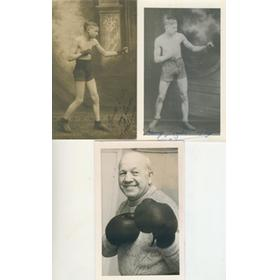 HARRY LEACH (DONCASTER) SIGNED POSTCARD AND PHOTOGRAPHS