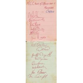 ENGLAND & SOUTH AFRICA 1964-65 (TOUR OF SOUTH AFRICA) CRICKET AUTOGRAPHS