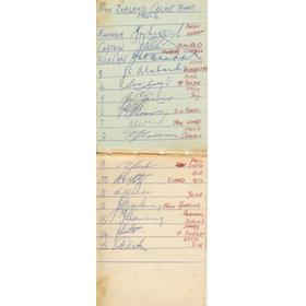NEW ZEALAND TOUR TO SOUTH AFRICA 1961-62 CRICKET AUTOGRAPHS