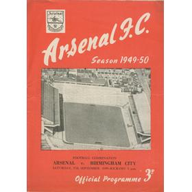 ARSENAL V BIRMINGHAM CITY 1949-50 FOOTBALL PROGRAMME (FOOTBALL COMBINATION)