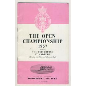 OPEN CHAMPIONSHIP 1957 (ST. ANDREWS) GOLF PROGRAMME