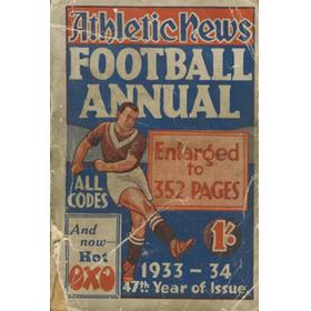 ATHLETIC NEWS FOOTBALL ANNUAL 1933-34