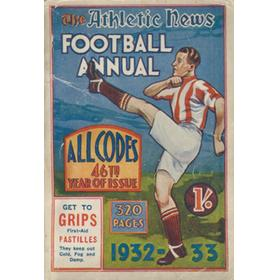 ATHLETIC NEWS FOOTBALL ANNUAL 1932-33