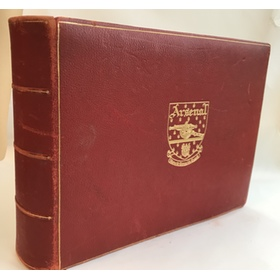 ARSENAL 1951 LEATHER PHOTOGRAPH ALBUM - PRESENTED TO CLUB DIRECTOR COMMANDER A.F. BONE