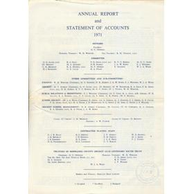 MIDDLESEX COUNTY CRICKET CLUB ANNUAL REPORT 1971