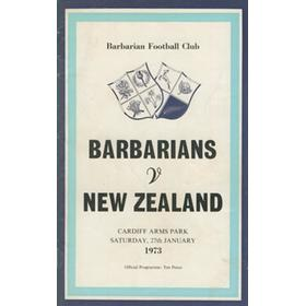 BARBARIANS V NEW ZEALAND 1973 (THE FAMOUS MATCH) RUGBY PROGRAMME
