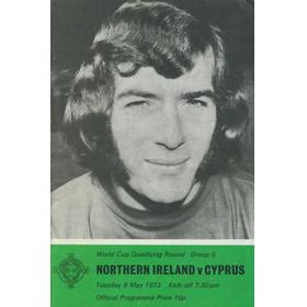 NORTHERN IRELAND V CYPRUS 1973 FOOTBALL PROGRAMME