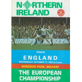 NORTHERN IRELAND V ENGLAND 1979 FOOTBALL PROGRAMME