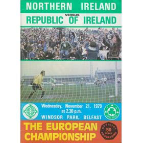 NORTHERN IRELAND V REPUBLIC OF IRELAND 1979 FOOTBALL PROGRAMME