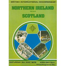NORTHERN IRELAND V SCOTLAND 1976 FOOTBALL PROGRAMME