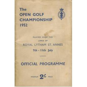 OPEN CHAMPIONSHIP 1952 (ROYAL LYTHAM ST. ANNES) GOLF PROGRAMME