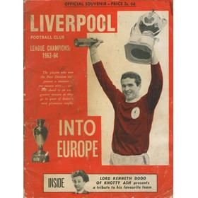 LIVERPOOL INTO EUROPE. LEAGUE CHAMPIONS 1963-64
